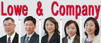 Lowe & Co. Jeffrey Lowe, lawyer; Robert Y.C. Leong, lawyer; Vivien Lee, immigration consultant;   Rita Cheng & Akiko Fujita Registered Certified Immigration consultants