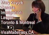 Mary Keyork, experienced immigration, citizenship & refugee lawyer in her office  for clients in GTA and Montreal